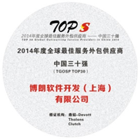 Top 5 China Outsourcing award.
