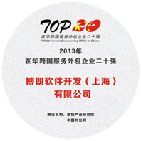 Top 30 China Outsourcing award.