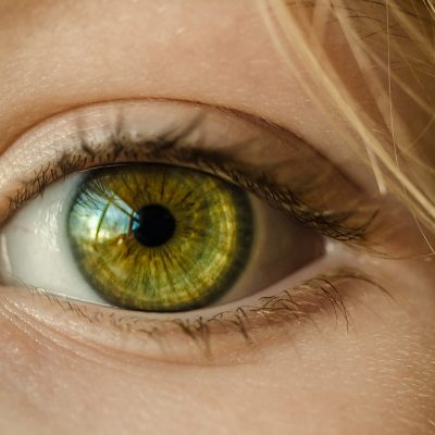 An image of a woman's eye to illustrate attention to detail.