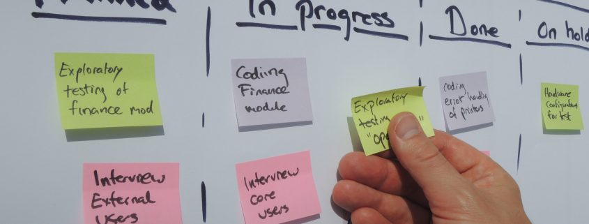 Daily agile standup: updating the scrum sprint plan